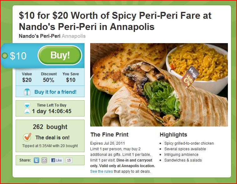 Baltimore food deal 3-24-11